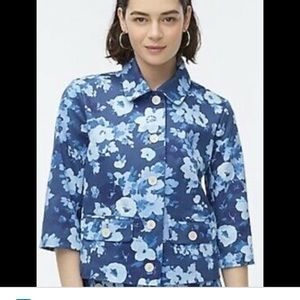 NWT JCrew lined Floral jacket. Button down, crop